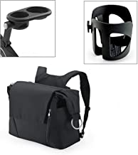 Stokke Xplory Cup Holder, Snack Tray, and Black Changing Bag Bundle