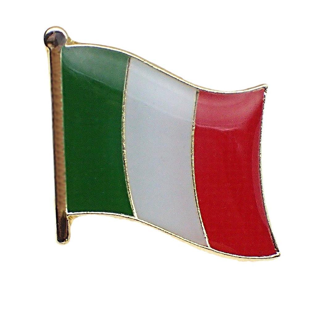 レトルト要塞そよ風ピンバッジ イタリア国旗ピンズ ITALIA ITALY FLAG REPUBBLICA ITALIANA BANDIERA ピンバッチ ROMA