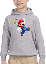 FHTD Super Mario Sunshine Logo Unisex Hoodie for Kids Outwear Coat with Pockets Jacket