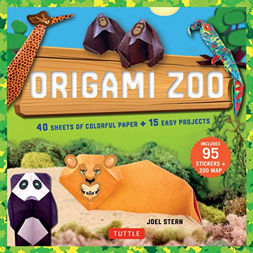 Origami Zoo Kit: Make a Complete Zoo of Origami Animals!: Kit with Origami Book, 15 Projects, 40 Origami Papers, 95 Stickers & Fold-Out Zoo Map