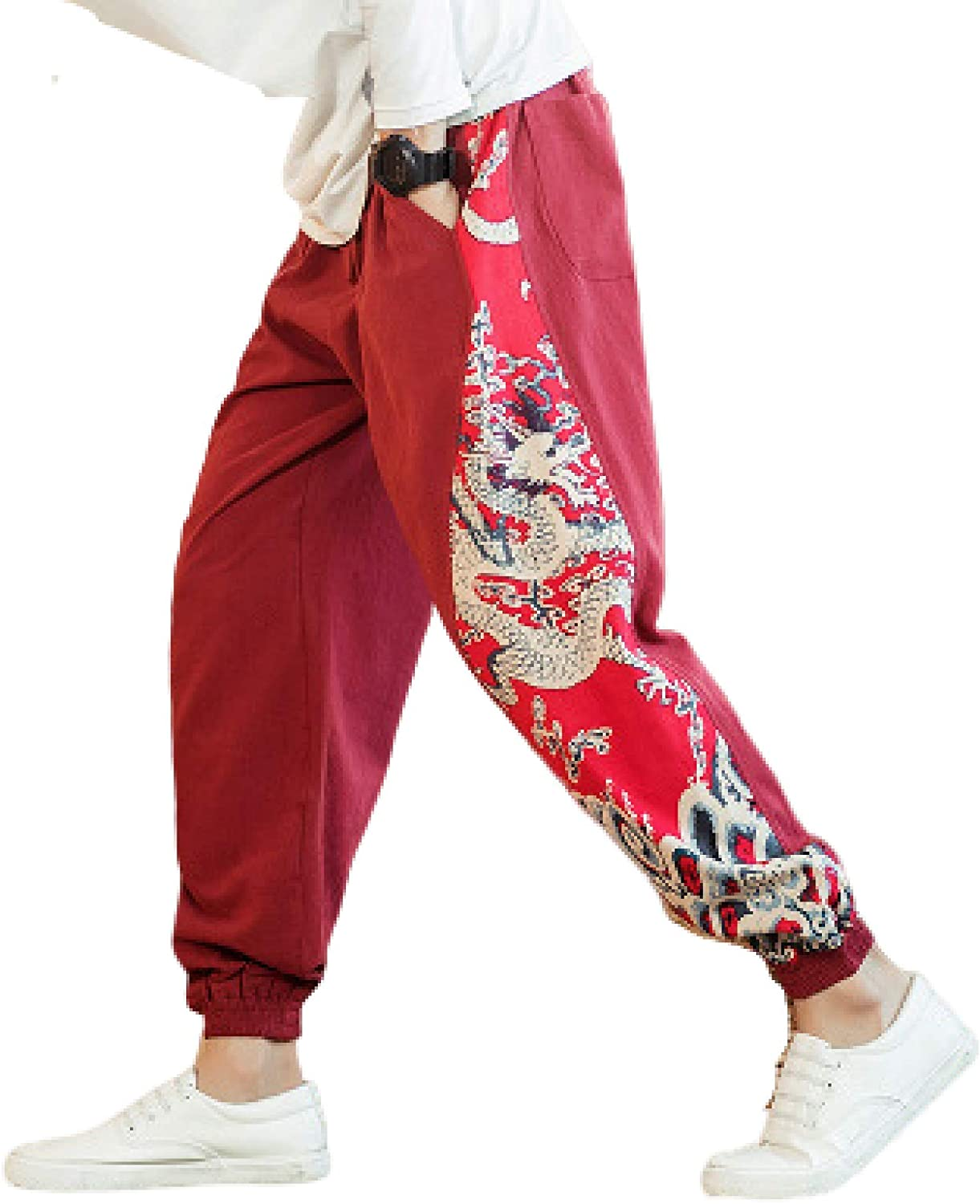 Men's Ranking TOP1 Jogger Trousers Max 86% OFF Chinese Style Harlan Pants Feet Casua Beam
