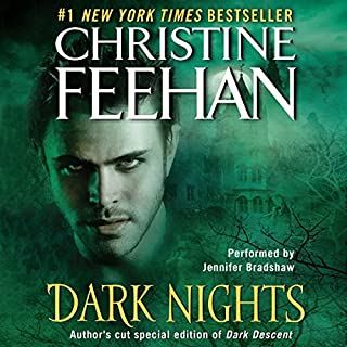Dark Nights                   By:                                                                                                                                 Christine Feehan                               Narrated by:                                                                                                                                 Jennifer Bradshaw                      Length: 15 hrs and 26 mins     267 ratings     Overall 4.6