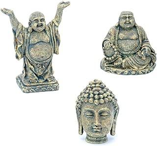 Penn Plax Aquarium Ornaments Mini Buddha Collection (Sit, Stand, Head)~3pk