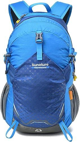 Grtodnz Sac à Dos de randonnée léger, Sac à Dos de Trekking de Camping décontracté, résistant à l'eau, Multifonctionnel pour Le vélo, Le Voyage, l'alpinisme et Le Sport de Plein air,bleu
