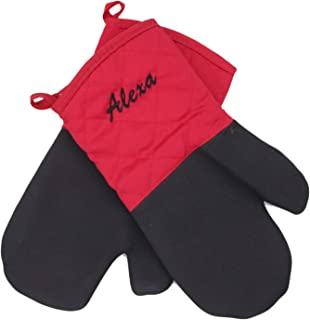 iBUYCUSTOM Personalized Oven Mitts for Your Kitchen. Easy to Put on and Take Off. Customize with Your Name Embroidery On The Mitt. Heat Resistant Kitchen Oven Gloves, Great for Baking, Cooking & BBQ.