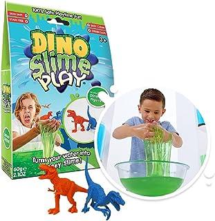 Slime Play Dino 60g: Green ( 2 figurines)