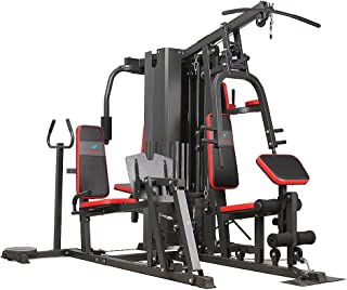 PowerUp Five Station MultiGym With Bench,Multi-functional chest expansion training & Max User Weight: 150KG