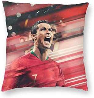 Greatest Football Player No.7 Jersey Throw Pillowcase Decorative Cushion Cover Square Bed Pillow Case Cover (18 x 18 inch) Twin Sides Print