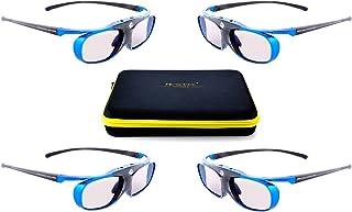 4x Blue Heaven Hi-Shock DLP PRO Series DLP Link activa Shutter 3d gafas para todas DLP 3D Proyectores [Acer, BenQ, Optoma, NEC, SIM2, Viewsonic, INFOCUS, LG, Wolf Cinema, Christie, 96 - 200 Hz]