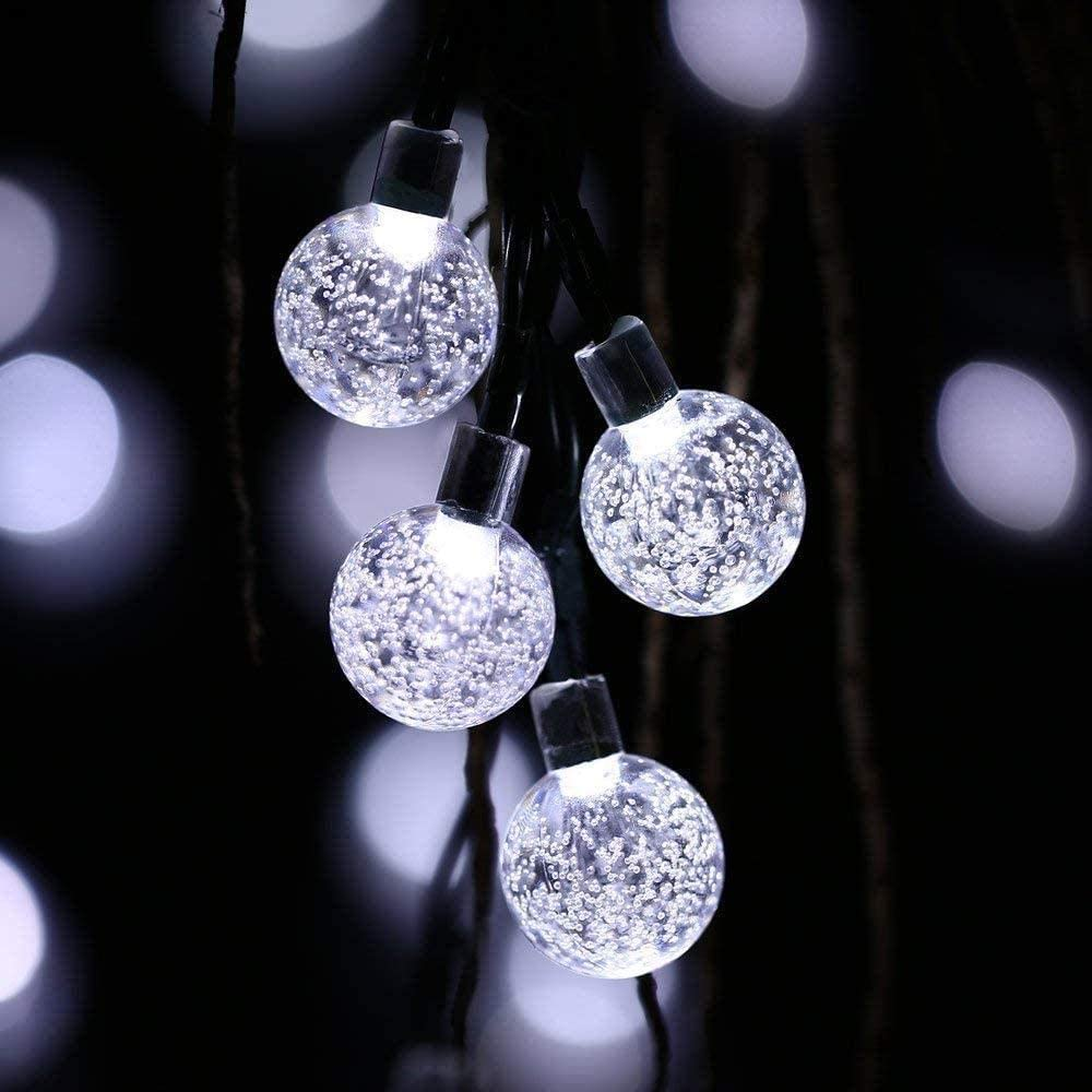 Dedication Solar Light 12m Bombing new work 100bulb Powe Crystal LEDs Ball