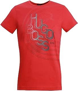 Hugo Boss Mens T-Shirt Tee 3 Colorful Logo Artwork 50404413 001 Red