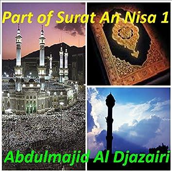 Part of Surat An Nisa 1 (Quran)