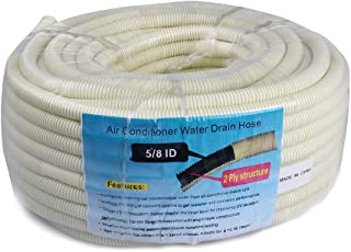 AC Parts 164 Ft Flexible Water Drain Hose Pipe for Ductless Mini Split Air Conditioner Heat Pump Systems; 5/8 ID Beige (6m); 5/8 ID Beige (50m)