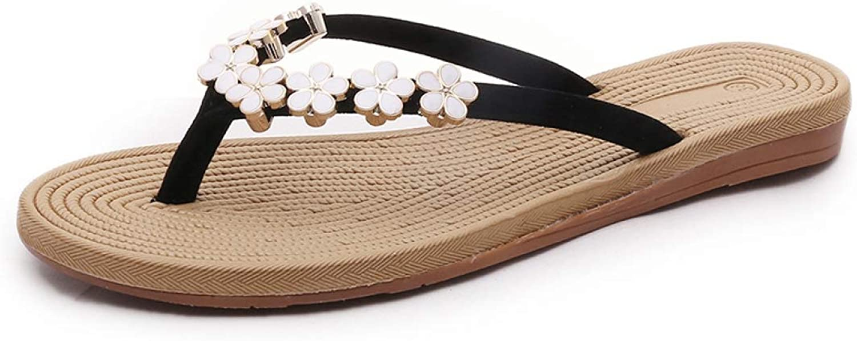 HEWPASKE Women's Slippers Flowers Flip Flops Beach Summer shoes Non-Slip Sandals