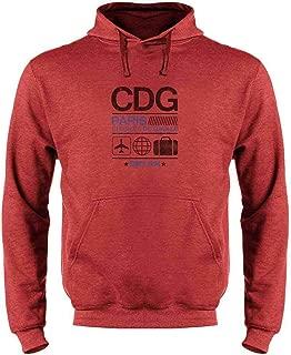 CDG Charles De Gaulle Paris Airport Code Travel Sweatshirt Hoodies for Men