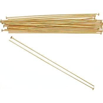 1-Inch Beadaholique GF//H20//100 10-Piece Filled Head Pins 14K Gold 24-Gauge