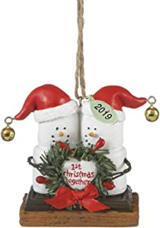 Twisted Anchor Trading Co Our First Christmas Smores Ornament 2019 Wedding Ornament with Mr and Mrs Smores Ornament in Gift Box