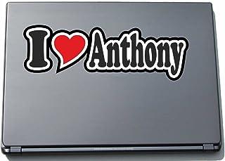 INDIGOS UG - 'I Love Serce' Naklejka Skóra laptopa 297 mm - I Love - I Love Anthony - Laptop netbook komputer - naklejka z...