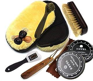 [hosum] 靴磨きセット 革靴 お手入れ 靴磨きコンパクトで携帯にも便利