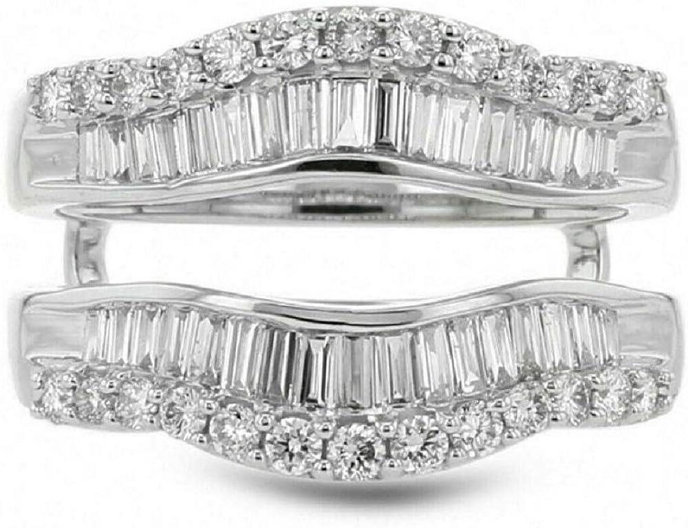 Houston Mall ABHI Created Baguette Round Cut Sterling in Phoenix Mall 925 Diamond White