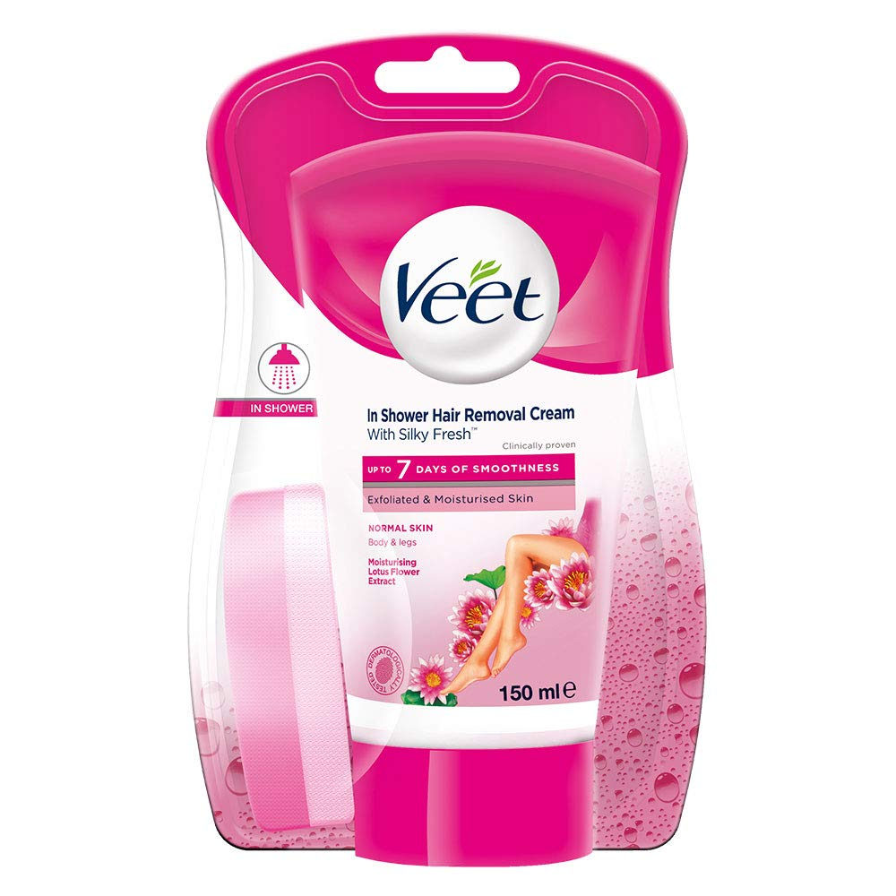 Veet In Shower Hair Removal Cream For Normal Skin Lotus And