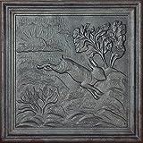 Lunaway - Placa de Chimenea de Hierro Fundido Conejo| Dimensiones 50 x 50 cm | Espesor 1 cm