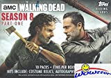 2018 Topps AMC The Walking Dead Season 8 EXCLUSIVE HUGE Factory Sealed Retail Box with Autograph, Relic, Patch or Sketch Card! Brand New! EVERY PACK includes One Insert & One Parallel! Loaded !