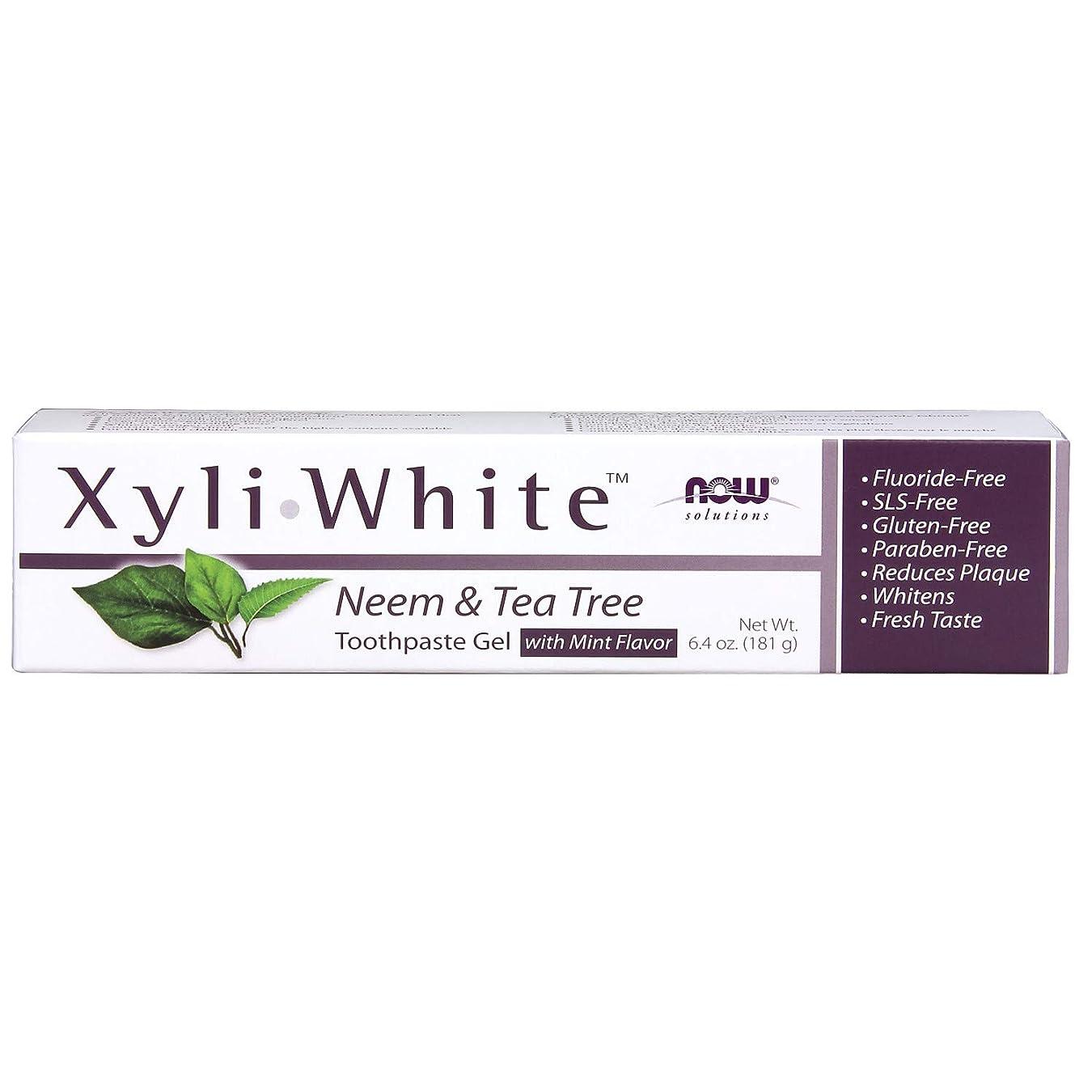 プラスチック移民バルーンキシリトール 歯磨きジェル  ニーム&ティーツリーミントフレーバー 6.4 oz (181 g)