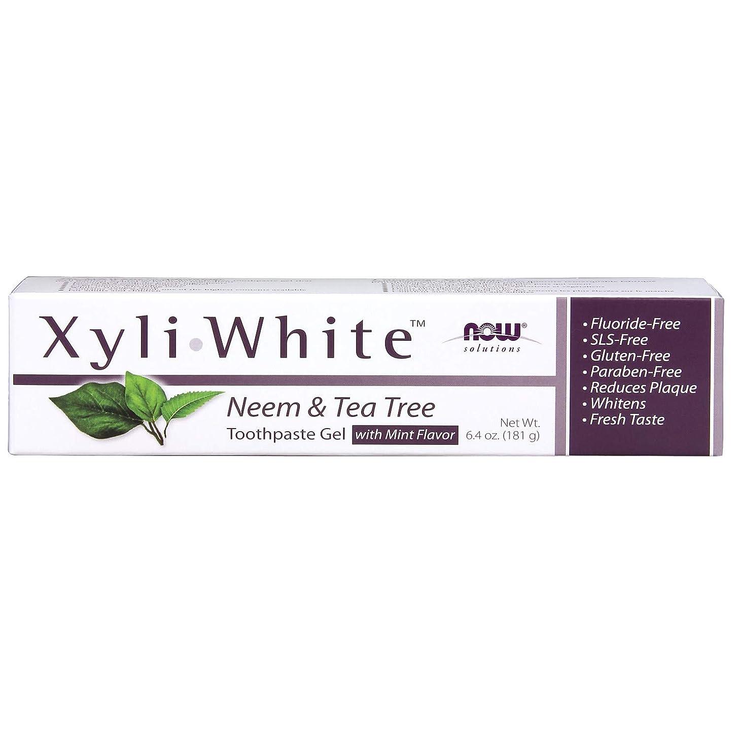 失敗賃金最小化するキシリトール 歯磨きジェル  ニーム&ティーツリーミントフレーバー 6.4 oz (181 g)
