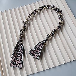 SKREOJF Bricolage nouvelle mode femme sac à main chaîne accessoire noir bleu ambre léopard léopard bracard ambre femme cha...
