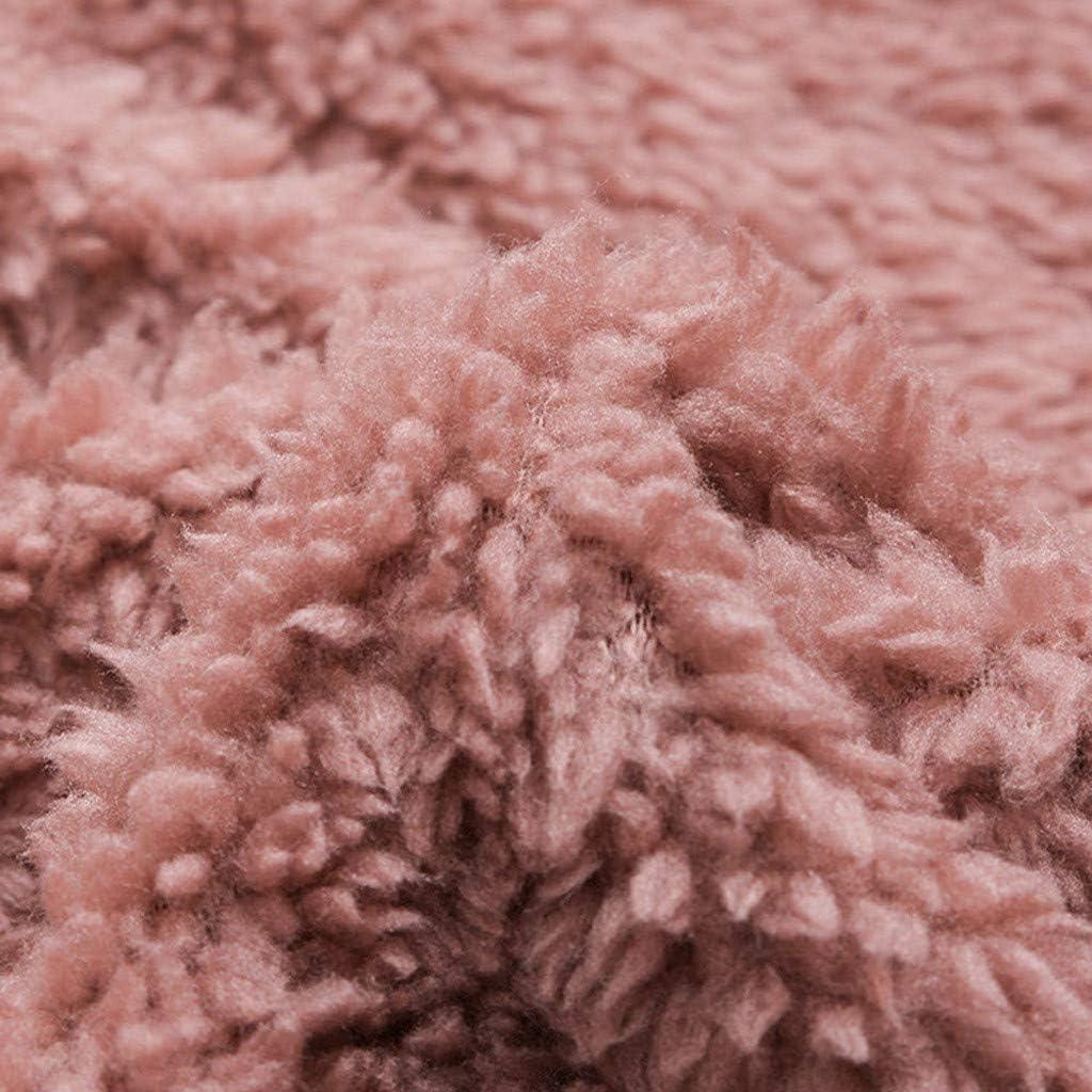 Momoxi 2020 Fleece Patchwork Plüsch Damen Jacke Knopf Plus Größen Weihnachtspullover Asymmetrischer Weihnachtsmann lose Strickjacke Bluse Für Weihnachten Winter Bis 6XL G-rosa