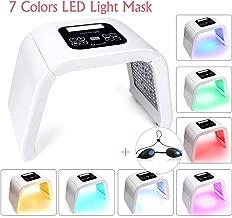 7 Color LED Facial Mask, Yofuly Portable Photon Anti-aging Skin Rejuvenation Treatment Skin Toning Facial Skin Care Mask Device for Home Salon Use