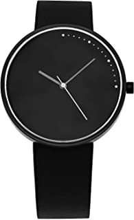 | Crescent Minimal 42mm Stainless Steel | Quick Release Genuine Leather Japanese Quartz Watch