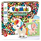 PlayMais MOSAIC Dream Unicorn Kreativ-Set zum Basteln für Mädchen ab 5 Jahren   Über 2.300 PlayMais & 6 Mosaik Klebebilder mit Einhörnern   Fördert Kreativität & Feinmotorik   Natürliches Spielzeug