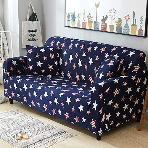 Elastische losse stof 3-zits hoekbank Couch Cover Antislip verwijderen Sectionele armsteun Kussenovertrekken Stretch Modern voor meubels-U_4 zits (235-300cm)