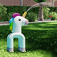 Happitry Inflatable Unicorn Sprinkler for Kiddie Swimming Pool