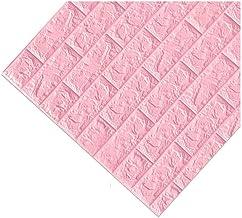 ZhHOME 3D bakstenen muurstickers, verwijderbare PE-schuim muursticker voor woonkamer thuiskantoor, zelfklevend behang, sch...