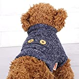 Filfeel Ropa para Perros, Pet Dog Warm Soft Plush Clothes Puppy Invierno Sweater Apparel Jacket Coat Costume(M)