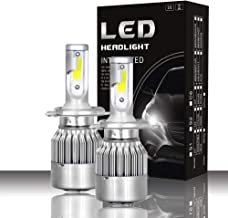 Mushan H4/9003 Headlight LED Bulb,2Pack H4 LED Headlight Kit HI-LO Beam Bulb Replacement 6000K 72W High Power Extremely bright COB Chip Headlight With 3 Years Warranty