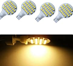 Kyson 4 Pack DC 12V Warm WhiteT10 921 194 24-3528 SMD LED Bulb Lamp Super Bright