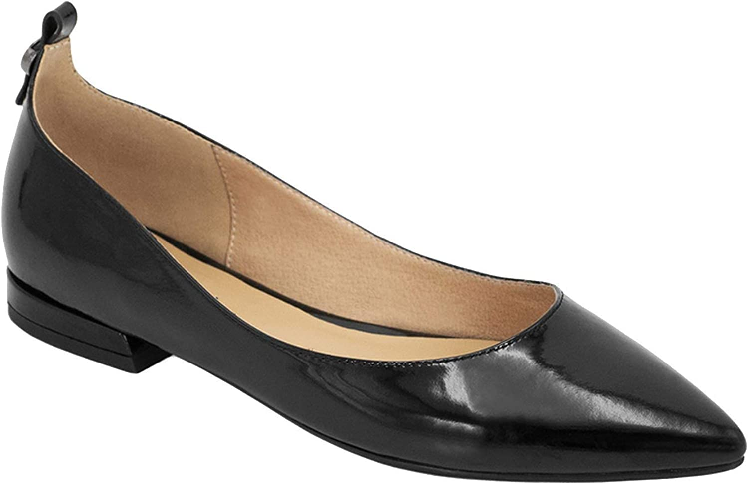 KKK-3boss-loafers Flats shoes Women Handmade Pointed Toe Slip On Career Flats Black Patent Leather Shallow