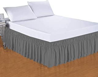 Camp County Beyond Bed Skirt Wrap Around Three Sided Dust Ruffle 18 Inch Depth Queen Easy Fit Wrinkle Resistance Wrap Arou...