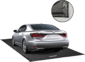 Hanjet Garage Floor Mat for Car, Containment Mat Black for Snow, Mud, Rain (7ft 9in x 18ft)