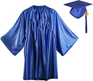 HEPNA [2019 Uniforms Preschool&Kindergarten Graduation Gown Cap Tassel Set,Silky Graduation Robe