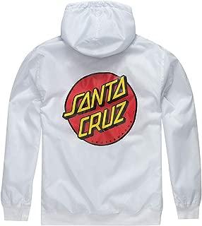 Santa Cruz Dot Hooded Windbreaker Jacket - White