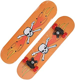 Mini Complete Skateboard-Beginner Skateboard 23.6 Inch Anime Skull Logo Pattern Children Skateboard Pop Skateboard Suitable for Children Over 3 Years Old