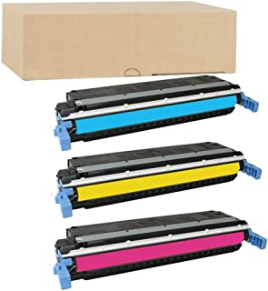 ADE Products Remanufactured Replacements for 3 HP 645A Color Set, HP CE9731A CE9732A C9733A for use in HP Color Laserjet 5500n, 5550hdn, 5500dtn, 5500, 5550dtn, 5500dn, 5550n, 5550, 5550dn, 5500hdn