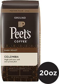 Peet's Coffee Single Origin Colombia, Dark Roast Ground Coffee, 20 Ounce Peetnik Pack