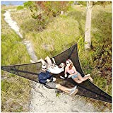 DFYAI Camping Hammock Multi Persona Árbol Casa Air Sky Tienda Hamaca de 3 Puntos Portátil para Backpacking Travel Beach Backyard Patio Easy Set Up Black 200x200x200cm-280x28