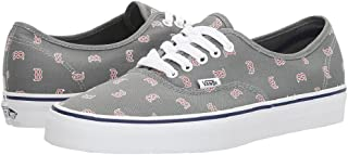 Vans Authentic MLB Boston/Red Sox/Grey Kids Shoes 2.5